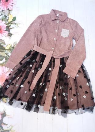 Платье детское , нарядное . ткань:вельвет.