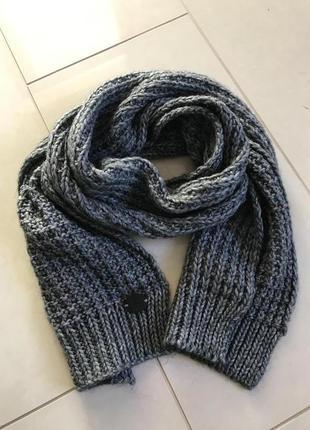 Шарф зимний шерстяной стильный модный дорогой бренд италии hamaki-no