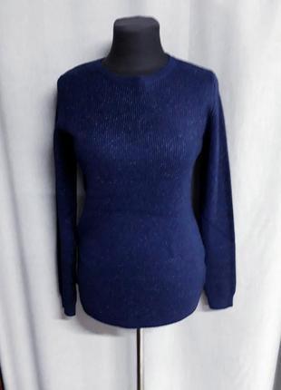 Синий свитер с люрексом hostar