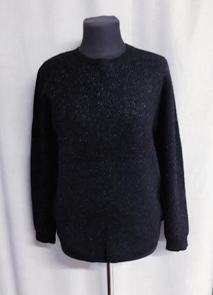Черный нарядный свитерок с люрексом hostar