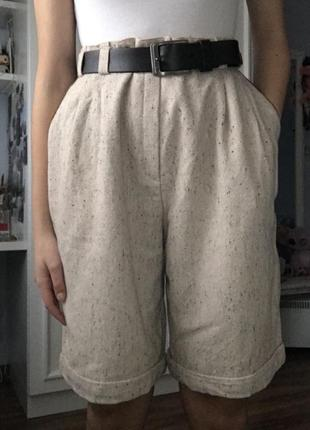 Шикарные шерстяные шорты-бермуды