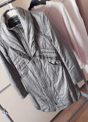 Брендовый пуховик пальто с мехом  beate heymann 1+1=3