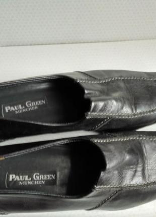 Туфли осенние черные paul green кожаные