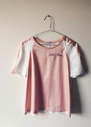 Zara moshi футболка атлас