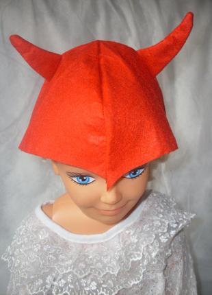 Головной убор alive для костюма чертика на 4-6 лет