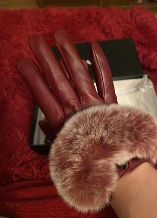 Кожаные перчатки2 фото