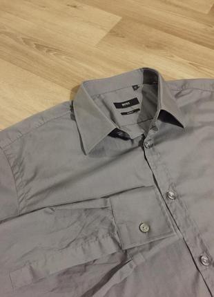 Мужская классическая рубашка slim-fit hugo boss р.хл