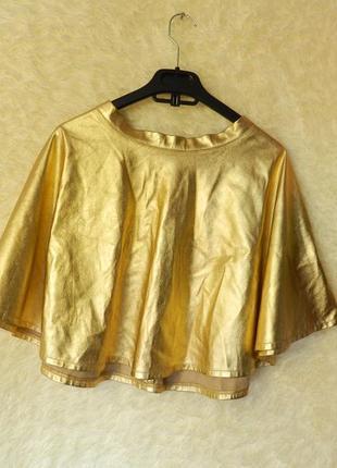 ✅коротенькая юбка цвет золото