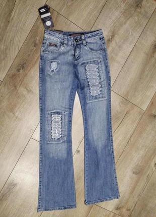 Крутые котоновые джинсы клёш. джинсы клеш котоновые 26 турция