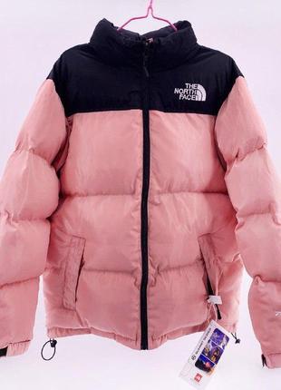 Пуховик the north face  700 / pink женская зимняя куртка