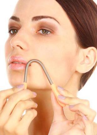 """Пружина """"dono super stick"""" для удаления нежелательных волос на лице"""