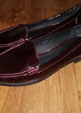 ✨✨✨красивые женские туфли на низком каблуке, мокасины натуральная кожа 41 р. moccamocca🔥🔥🔥