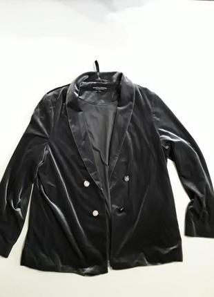 Фирменный классный велюровый пиджак жакет кардиган
