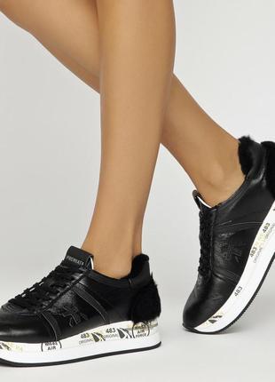 Итальянские кроссовки premiata на натуральном меху