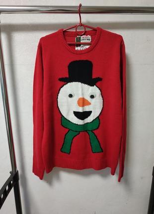 Новогодний свитер размер l