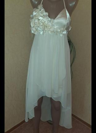 Шикарное платье вечернее,выпускное,свадебное цвета шампань турция