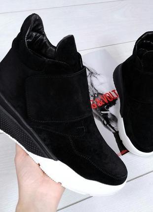 Рр 36-40 осень(зима)натуральный замш стильные спортивные ботинки3 фото