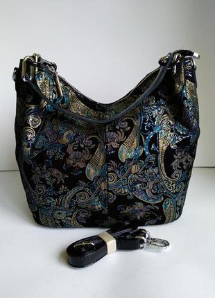 Женская сумка из натуральной замши + лазерное напыление
