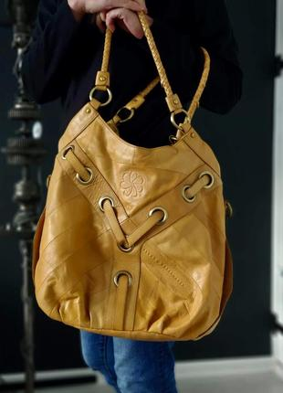 Bloom & copenhagen. большая крутая сумка из натуральной кожи.