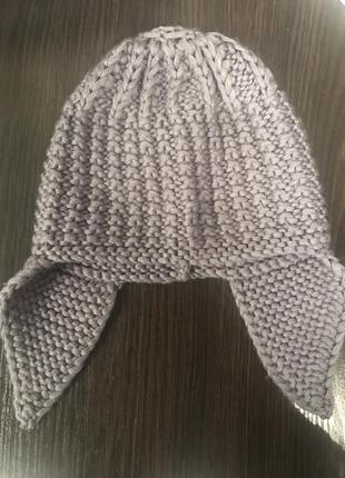 Вязанная шапка с ушками