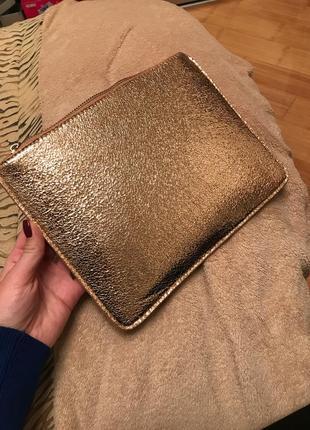 Клатч сумка золотая золото золота
