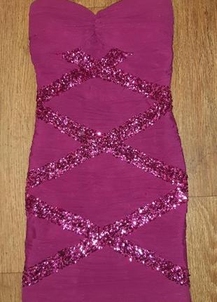 Вечернее платье , платье корсет, платье в паетках