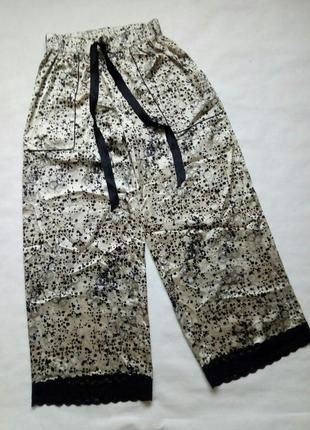 Женские атласные пижамные штаны