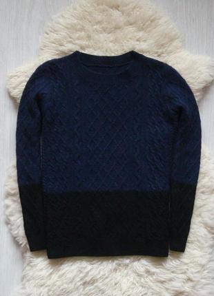 Теплый свитер с градиентом