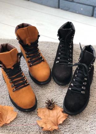 Lux обувь! качественные натуральные кожаные зимние ботинки на шнуровке