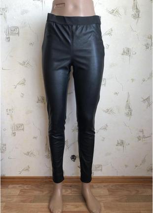 Divided h&m кожаные штаны, кожаные puлосины, кожаные pu брюки h&m, штаны pu кожа эйчик