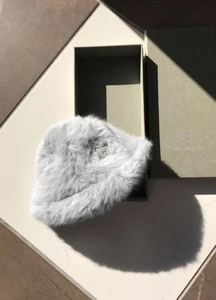 Дизайнерская ангорвая шапка, берет, кеппи laura biagiotti, италия
