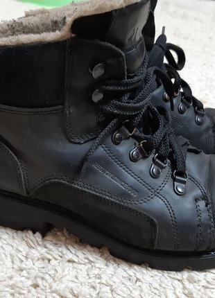 Ботинки зимние кожа