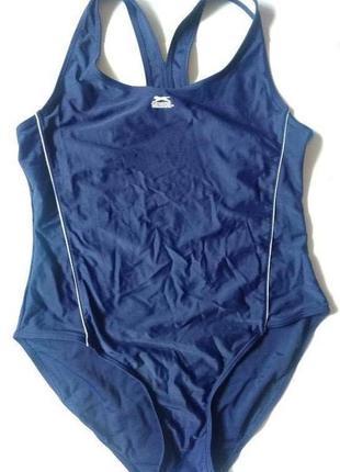 18-20 slazenger темно- синий спортивный цельный купальник для бассейна спорта