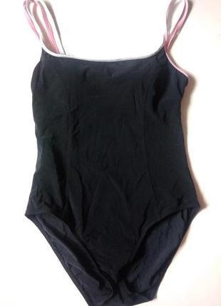 14-16 m&s черный цельный купальник с утяжкой для бассейна спорта, анти хлор чашка а-в