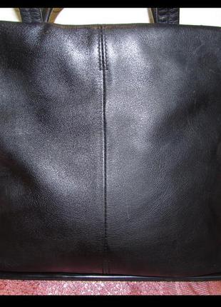 Вместительная удобная сумка натуральная кожа ~footglove~