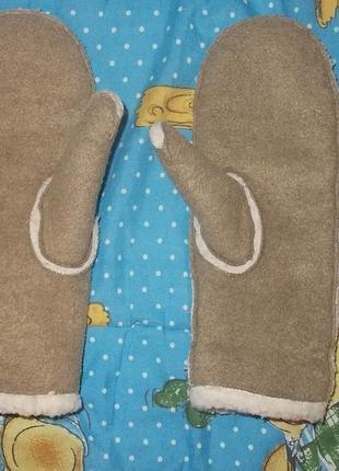 Варежки рукавички овчинка