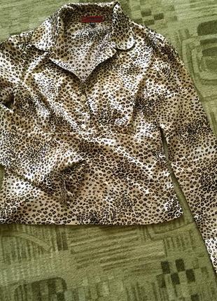 Рубашка блуза леопард