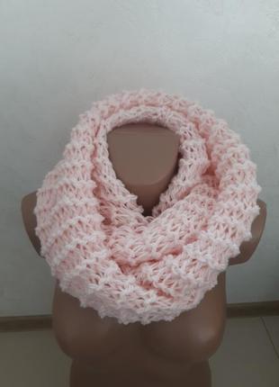 Распродажа...отличный светло-розовый хомут,шарф.в наличии 34 цвета.