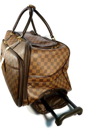 ... Дорожная сумка на колесах louis vuitton средняя м , шашки,коричневая2  ... a2105488df7