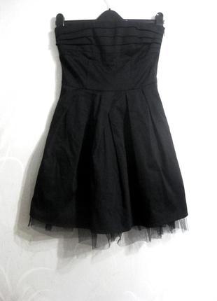 Платье vero moda юбка фатин без бретелей корсет чёрное коттон хлопок