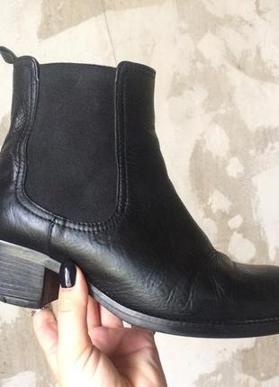 Кожаные челси шкіряні челсі кожаные ботинки 🥾 на каблуке