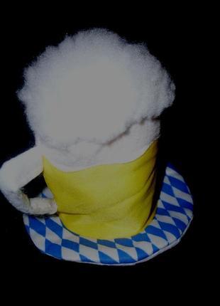 Маскарадная мини-шапочка кружка пива на заколках-уточках