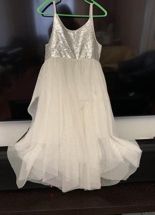 Платье нарядное h&m 134 см