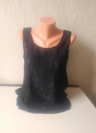 Блуза, блузка only, мереживо, розмір 40(48)