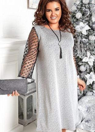 Нарядное вечернее женское платье размеры: 48-62