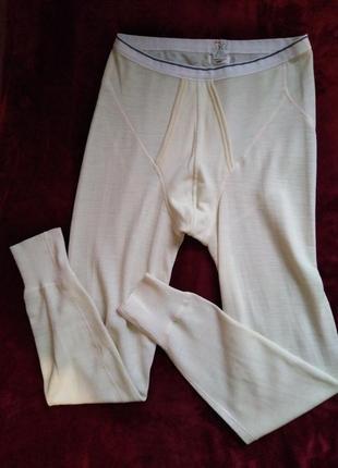 Швейцария, премиум термобелье, белые кальсоны, смесовая шерсть, isa bodywear