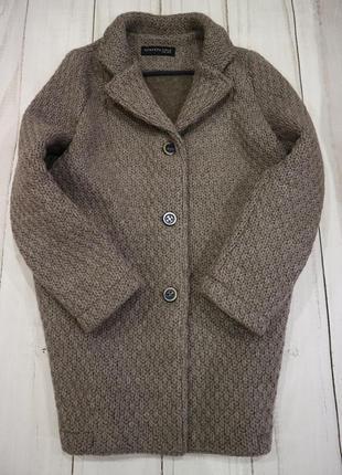 Оригинальное вязаное пальто, еврозима, m-l