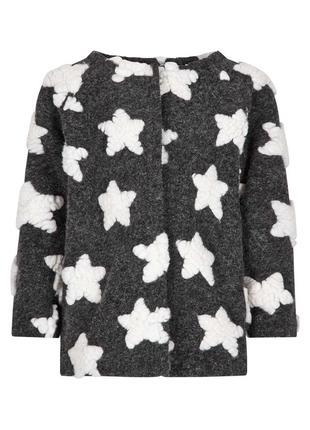 Теплое пальто для девочки с подкладкой из шерпы