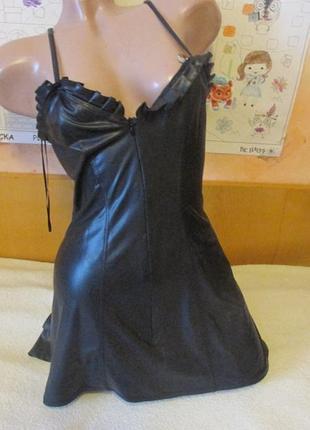 Мини платье под латекс франция р.l