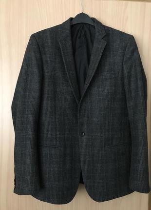 Жакет дизайнерский мужской шерстяной  стильный дорогой бренд filippa k размер m/l